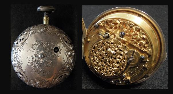 02f541476f8 A caixa original deste relógio seria provavelmente da autoria de Willliam  Jaques (ativo 1692-1730).